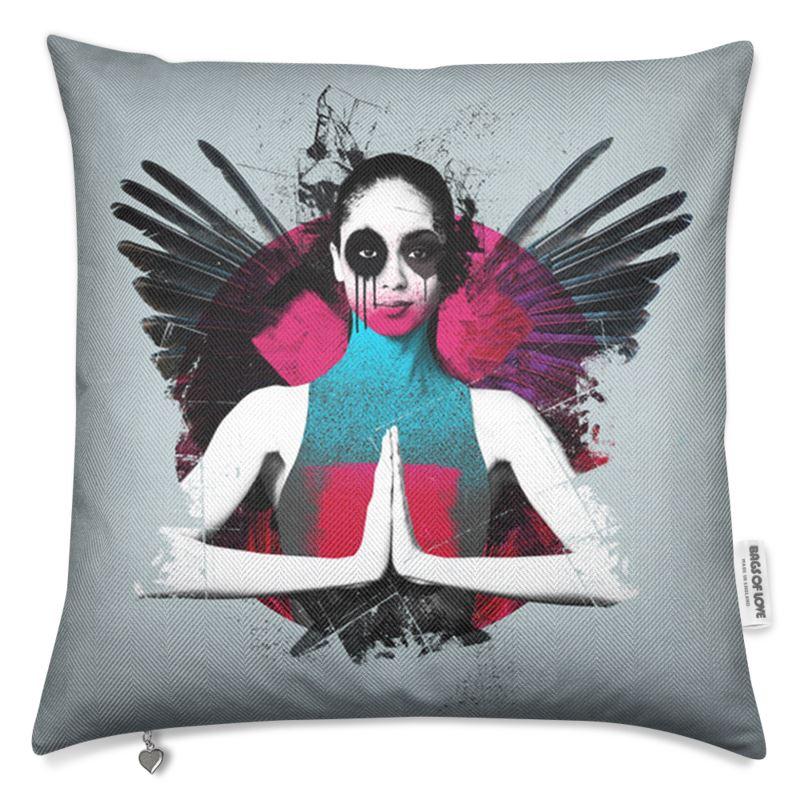 """""""Fallen"""" Grey Luxury Cushion"""