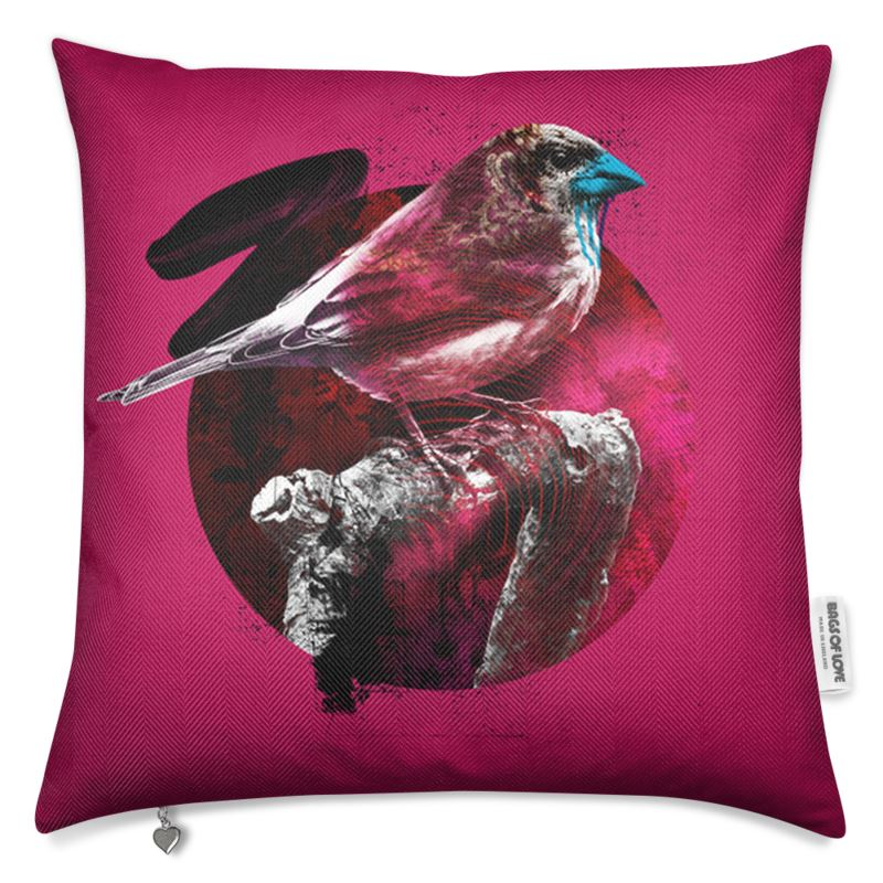 Bird Luxury Cushion Pink