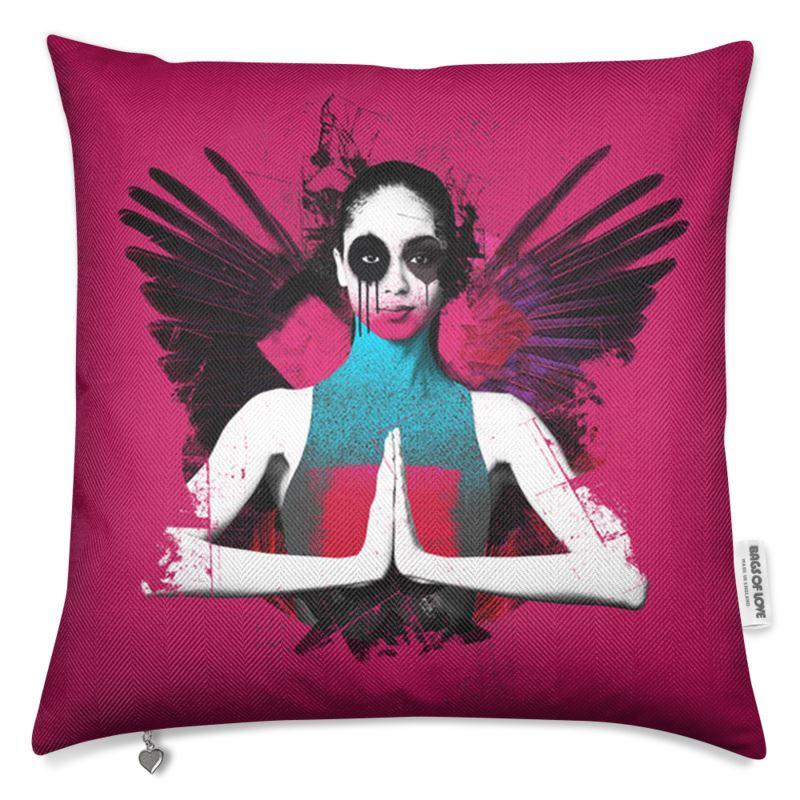 """Fallen"" Pink Luxury Cushion"