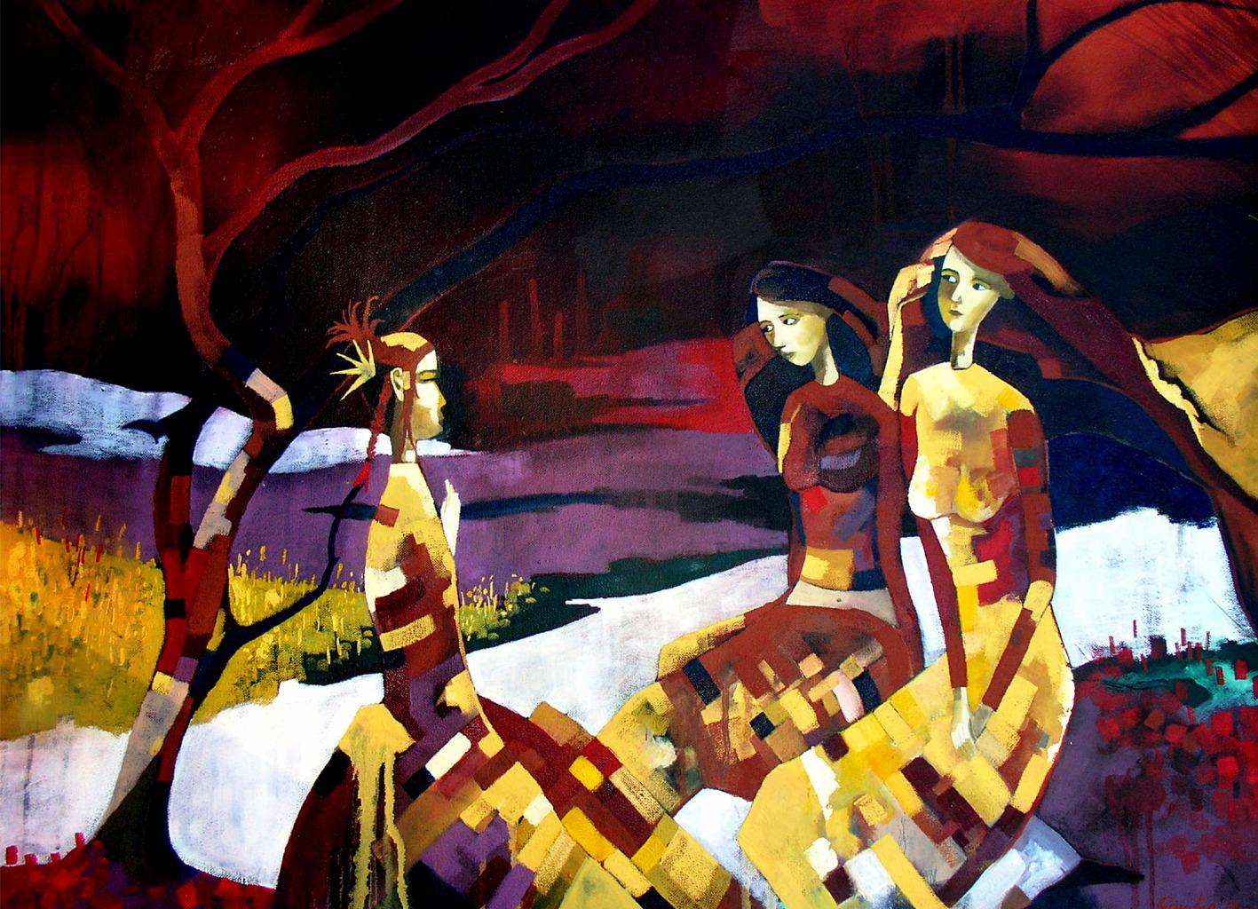Homage Oil painting By Scottish Artist Gordon Brown