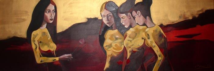 Praise Oil painting By Scottish Artist Gordon Brown