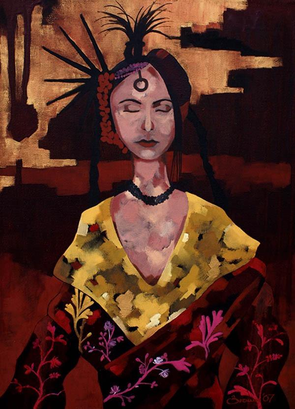 Meditation Oil painting By Scottish Artist Gordon Brown