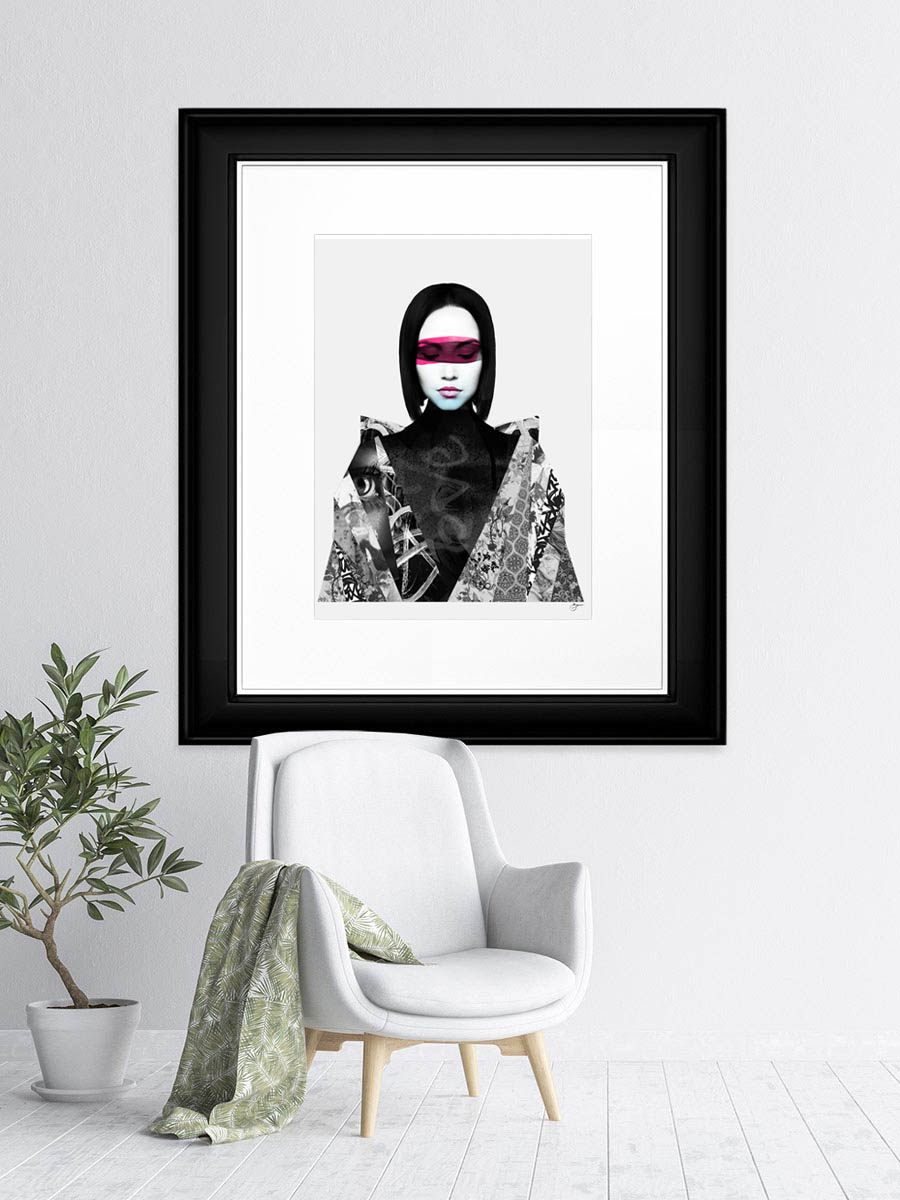Neon Framed artwork by Gordon Brown
